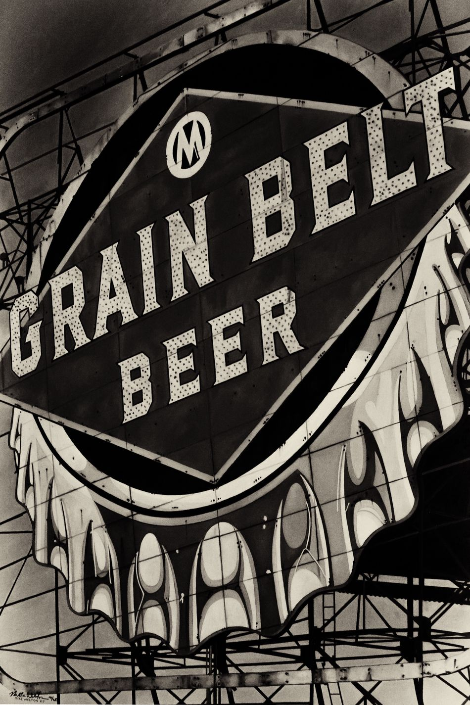 Grain Belt B&W Grain Belt Beer Blackandwhite Black And White Black & White High Contrast Painting Urban Urban Landscape Urbanphotography Cool Check This Out Sam Kratzer