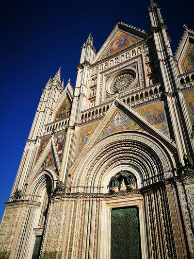 Orvieto cathedral Orvieto, Italy Orvieto Architecture City Sky Built Structure Clear Sky Travel Destinations Building Exterior Low Angle View History Outdoors No People Day Cultures
