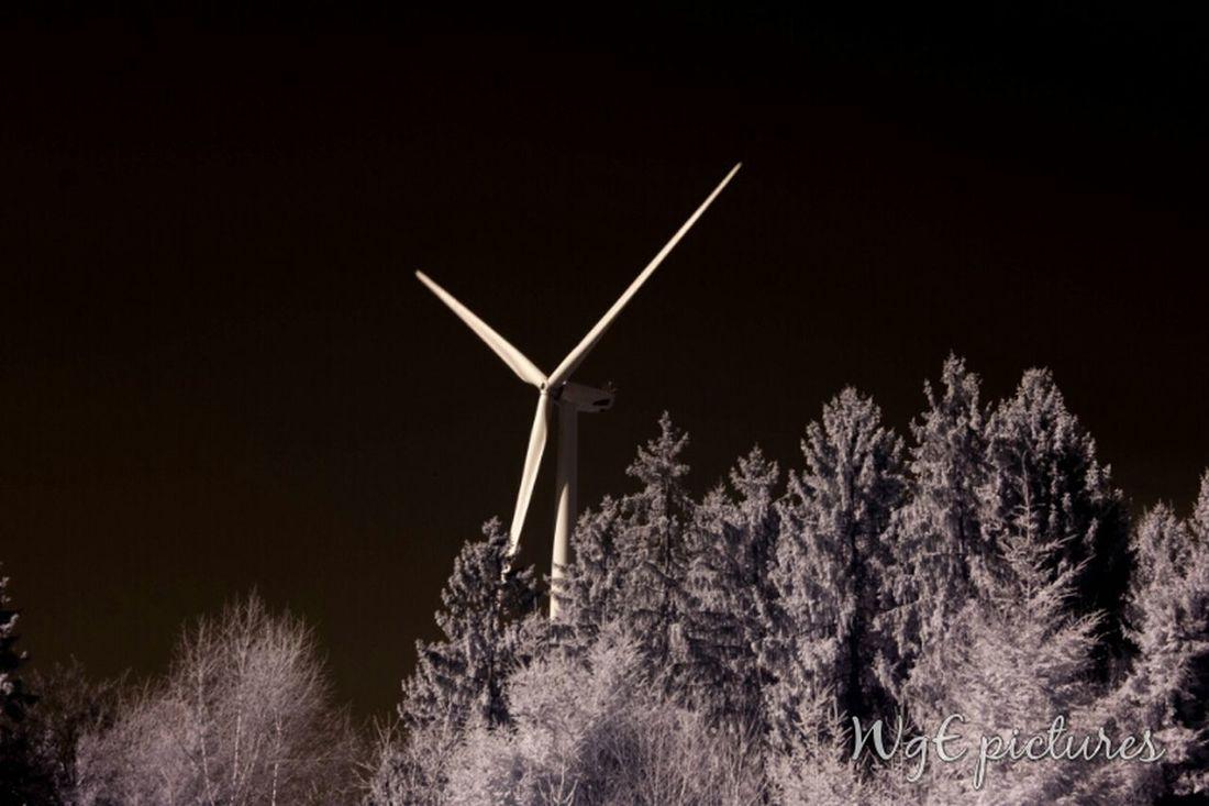 Windrad Wind Turbine Ir Photography