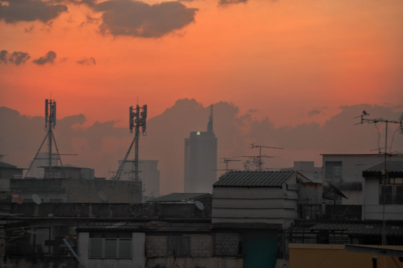 Pollution Social Issues Environment Factory Tower Night Business Finance And Industry Sunset Air Pollution Refinery Smoke Stack Outdoors Fog Gas No People Cityscape