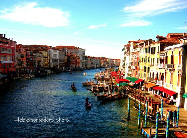 Venice, Italy Venice Venice Canals Rialtobridge Rialto Romantic Landscape Sunset