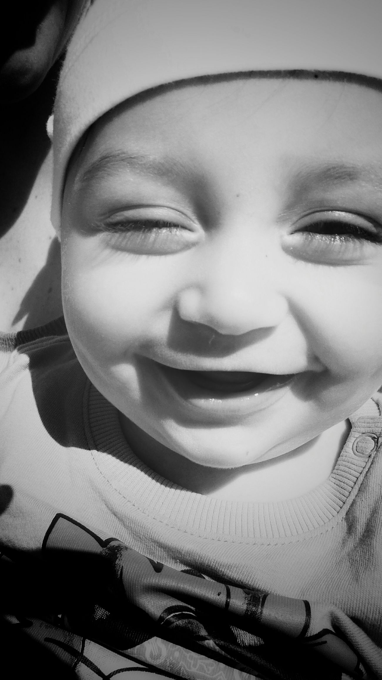 When he is around, smiles are multiplied 😁 Bnw_friday_eyeemchallenge Black And White Portrait Awesome! Just Smile  Cool Kids