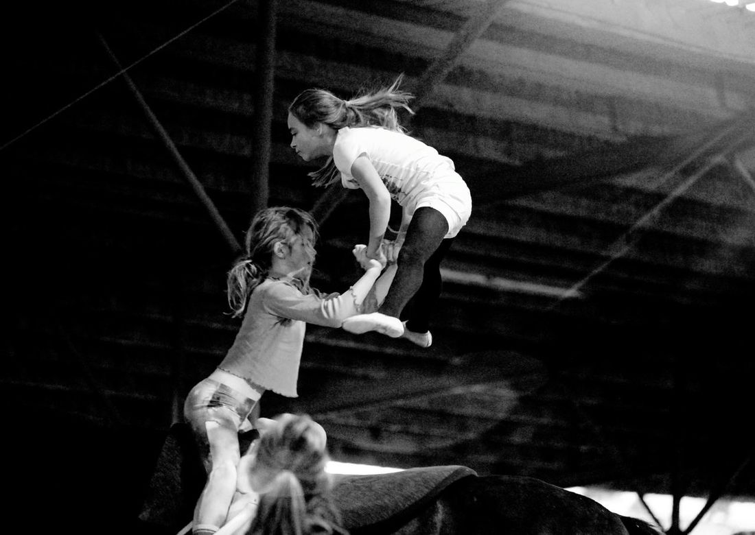Finding New Frontiers Two People Child Strength People Real People Childhood Togetherness Day Horsevaulting Horse Riding Gymnastics Horses Teamwork Friendship Horse Fun Bonding Connection