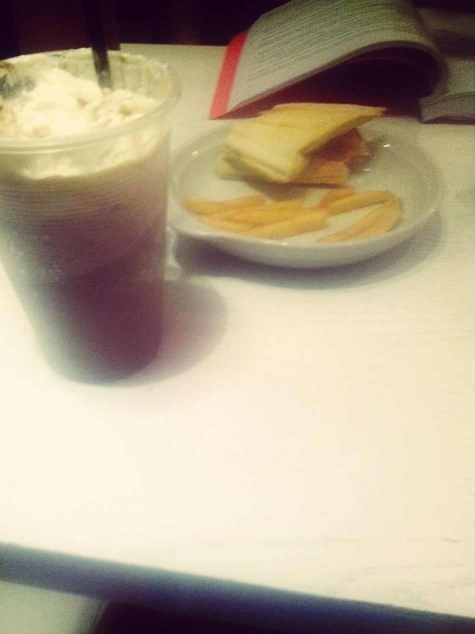 Coffer And Fries Time.