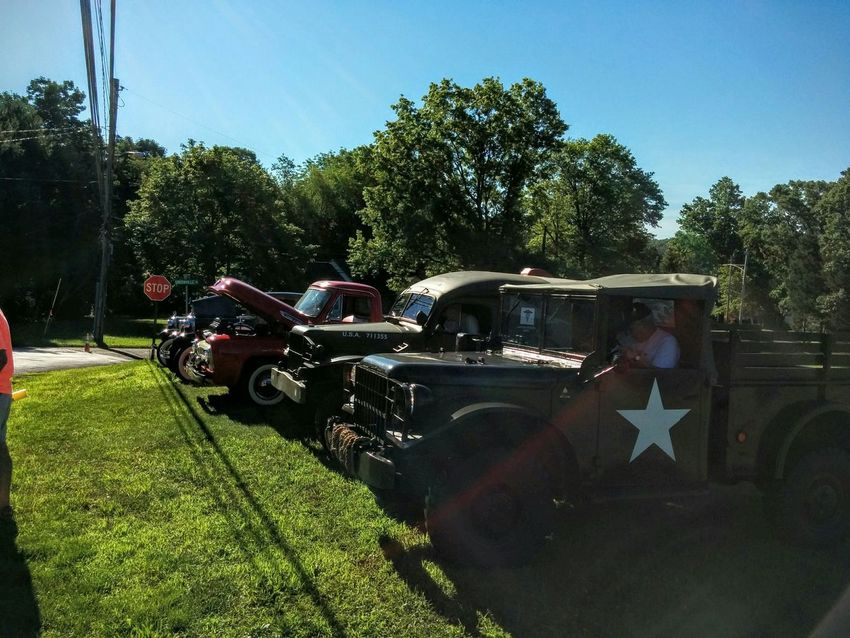 Vehicles have begun to arrive. Old Cars