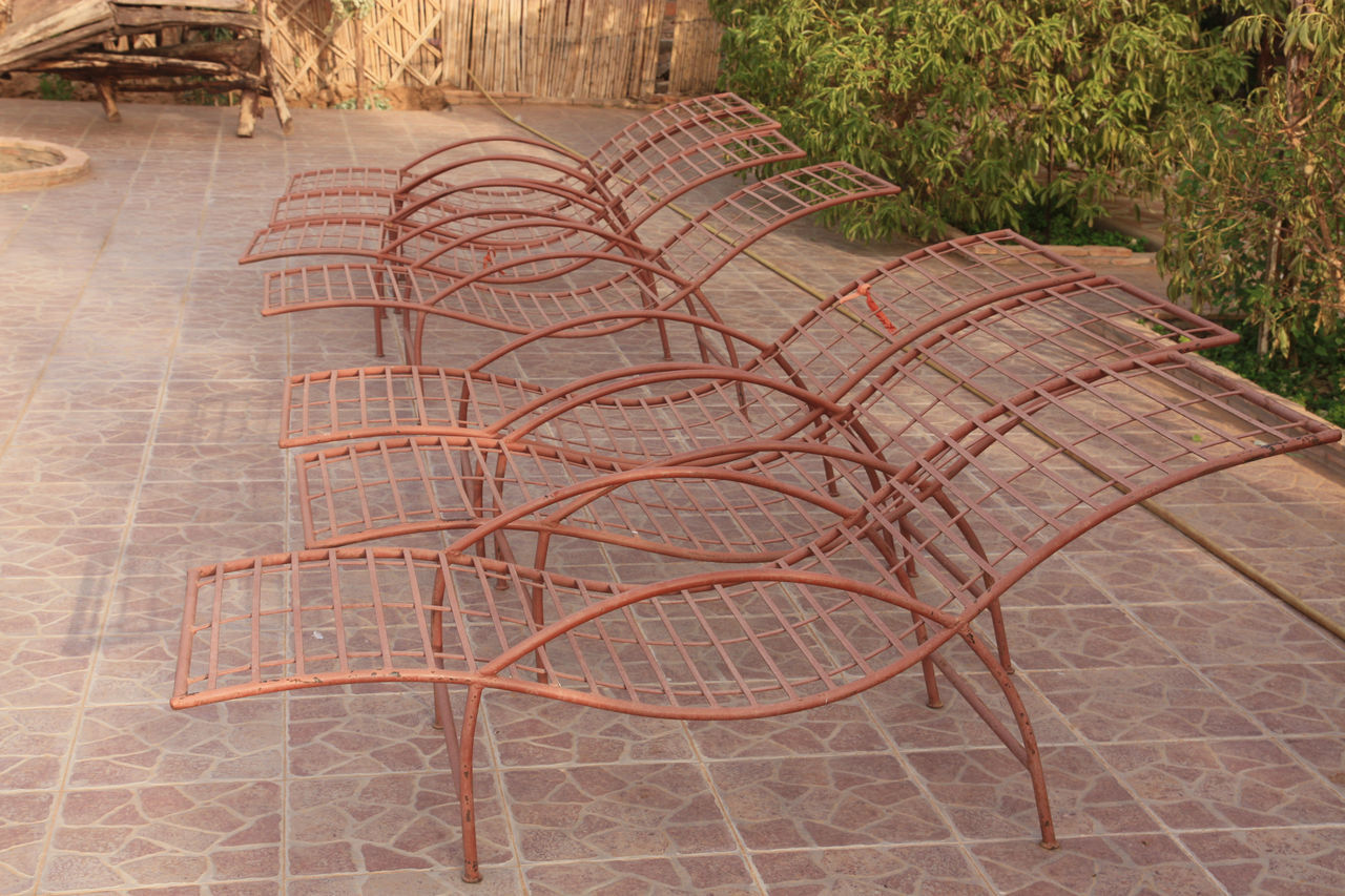 Lounge Chairs In A Row