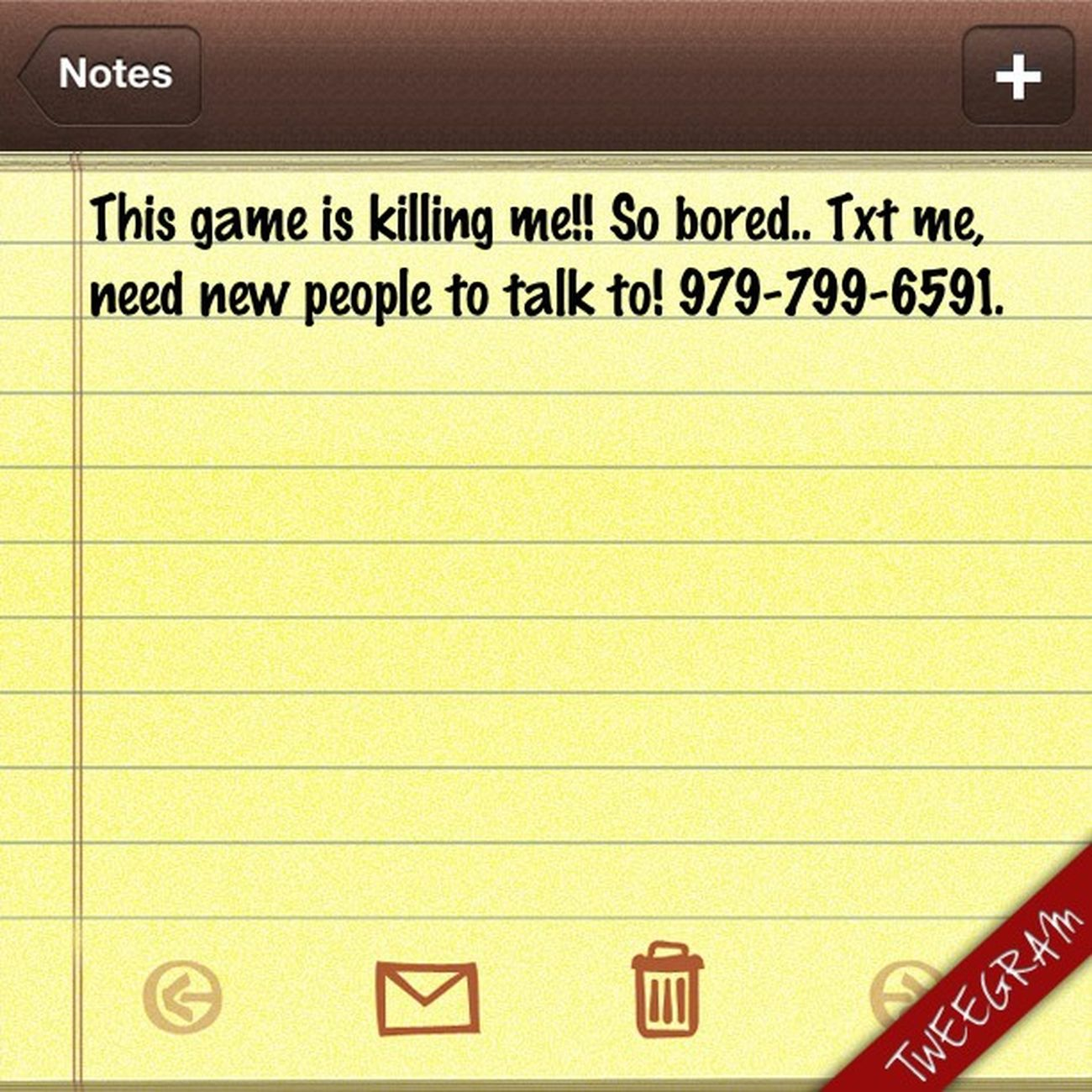 Game is killing me!!! Txt Me Need ñee ppl to txt.