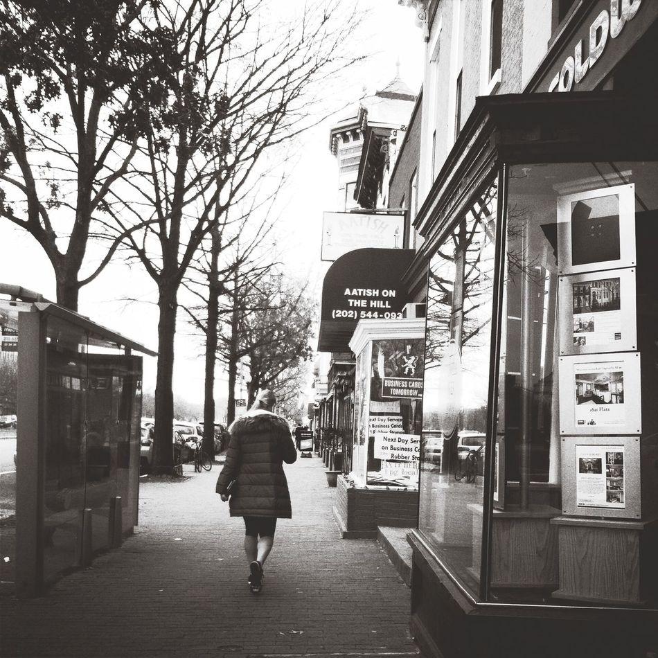 Walking Around Black & White
