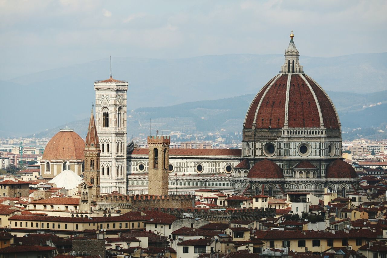 Architecture City History Travel Destinations Cityscape Tower Urban Skyline Sky Roof Built Structure Building Exterior Outdoors Clock Tower No People Day Florence Firenze Italia Italy Duomo Duomo Di Firenze Torre Campanile Campanile Di Giotto Bell Tower