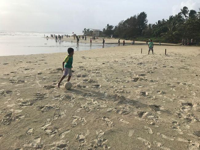 Beach football little cousins