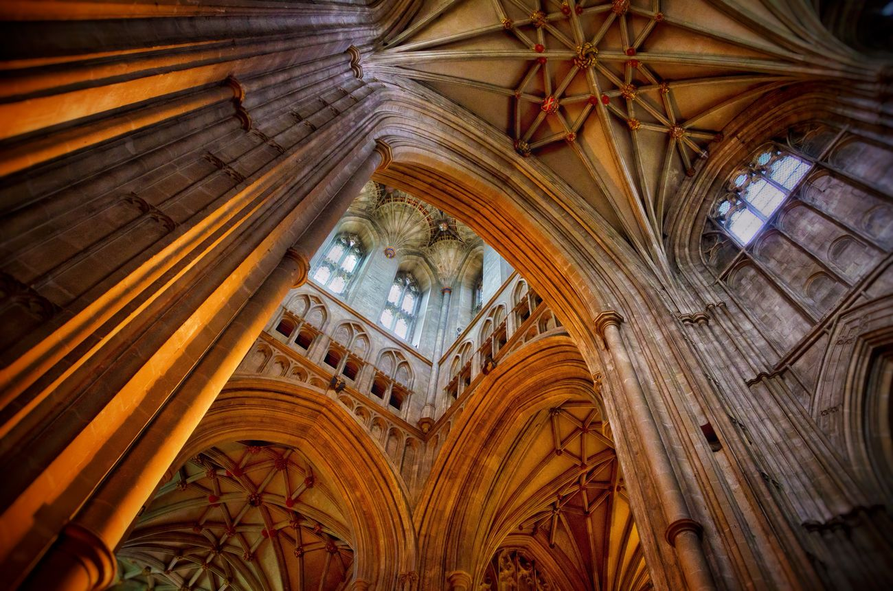 Arch Architecture Building Cathedral Ceiling Column Design Famous Place Gothic High Historic History Indoors  Light Light And Shadow Lookingup Majestic Medieval Old Old's Cool Perspective Shades Of Gold Stone The Architect - 2016 EyeEm Awards