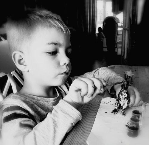 Indoors  Childhood Concentrating Grandsonlove X