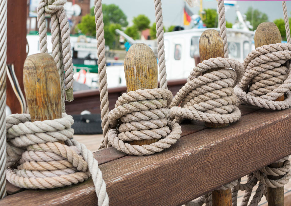 Boat Boat Deck Close-up Deck Detail Fastening Jetty Journey Mode Of Transport Nautical Vessel No People Old Outdoors Retro Rope Safety Sailboat Sailing Sailing Ship Sea Tied Up, Transportation Travel Yacht Yachting