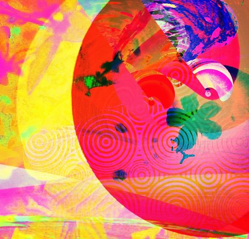 Airborne (3 of 3) Abstractions In Colors Digitalart  Contemporaryart Icolorama