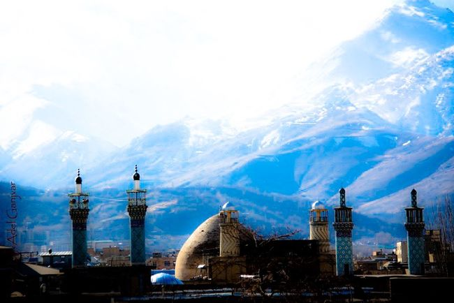 Sky And Clouds Sky Architecturelovers Architecture_collection Mosques Hamadan Silhouette_collection Culture Montains    Montains And Sun