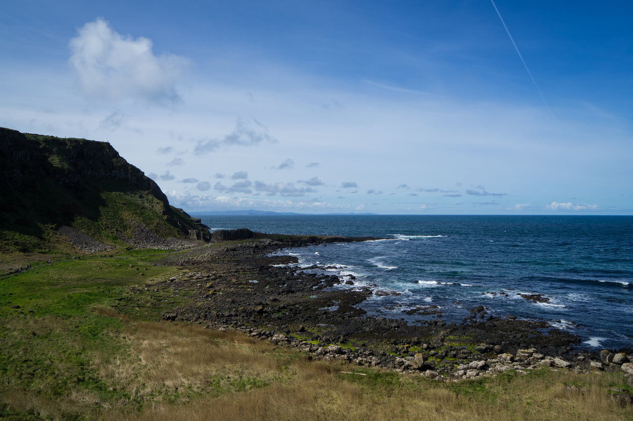 Beach Beauty In Nature Day Giant's Causeway GiantsCauseway Horizon Over Water Nature No People Northern Ireland Northernireland Outdoors Scenery Scenics Sea Sky Tranquility Water