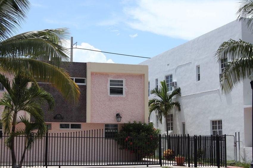 EyeEmNewHere Gate Miami Pink South Beach South Beach, Miami Architecture Art Deco Building Florida Palm Tree No People