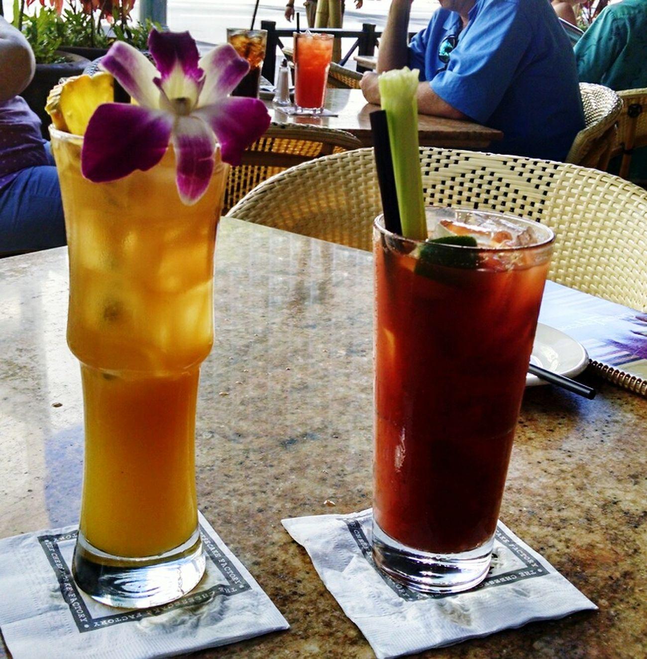 Yes Maitai & a Bloodymary Drinks Food just before leaving Paradise Honolulu, Hawaii Vacations Fun Times Beautiful Place USA