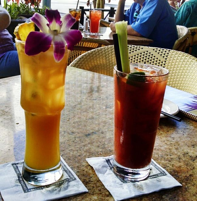Yes Maitai & a Bloodymary Drinks Food just before leaving Paradise Honolulu, Hawaii Vacations Fun Times Beautiful Place USA
