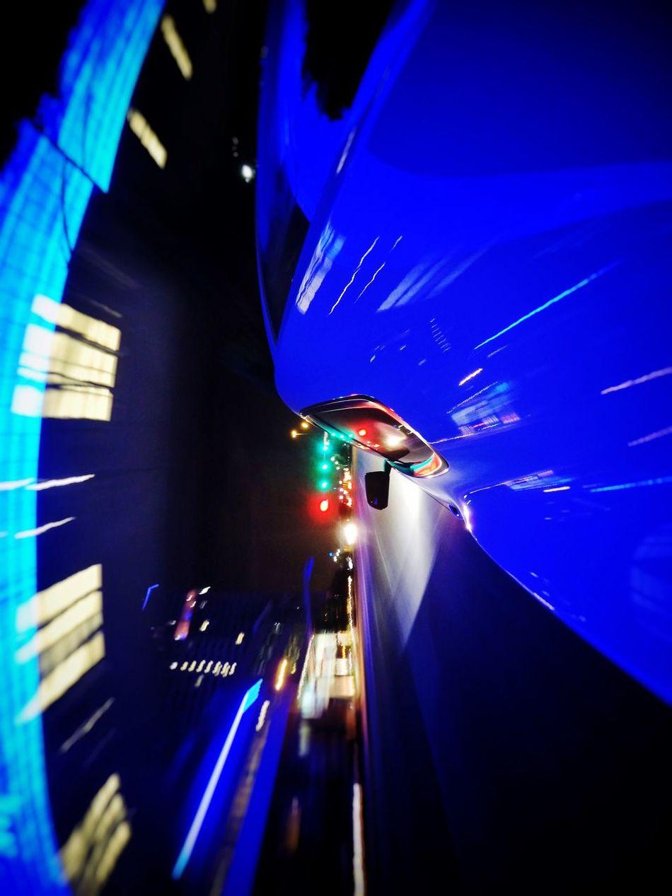 Fast Streaking Light City Life Cars Driving Around