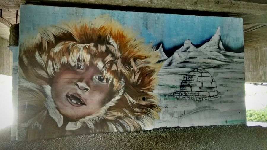 Inuit Summer Of 2017 One Person Young Adult Painted Image Graffiti Mural Grafitti Wall Freewall Bregenz