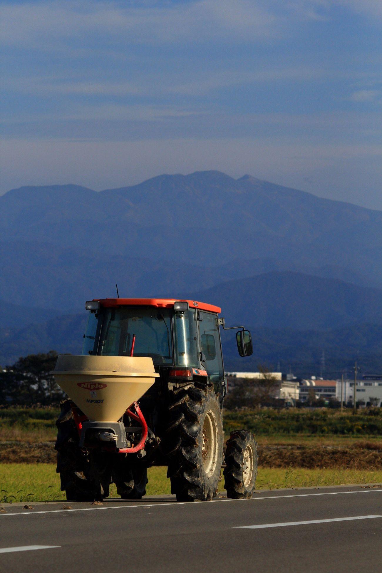 autumn Autumn Hakusan Komatsu Tractor Rice Field Agriculture