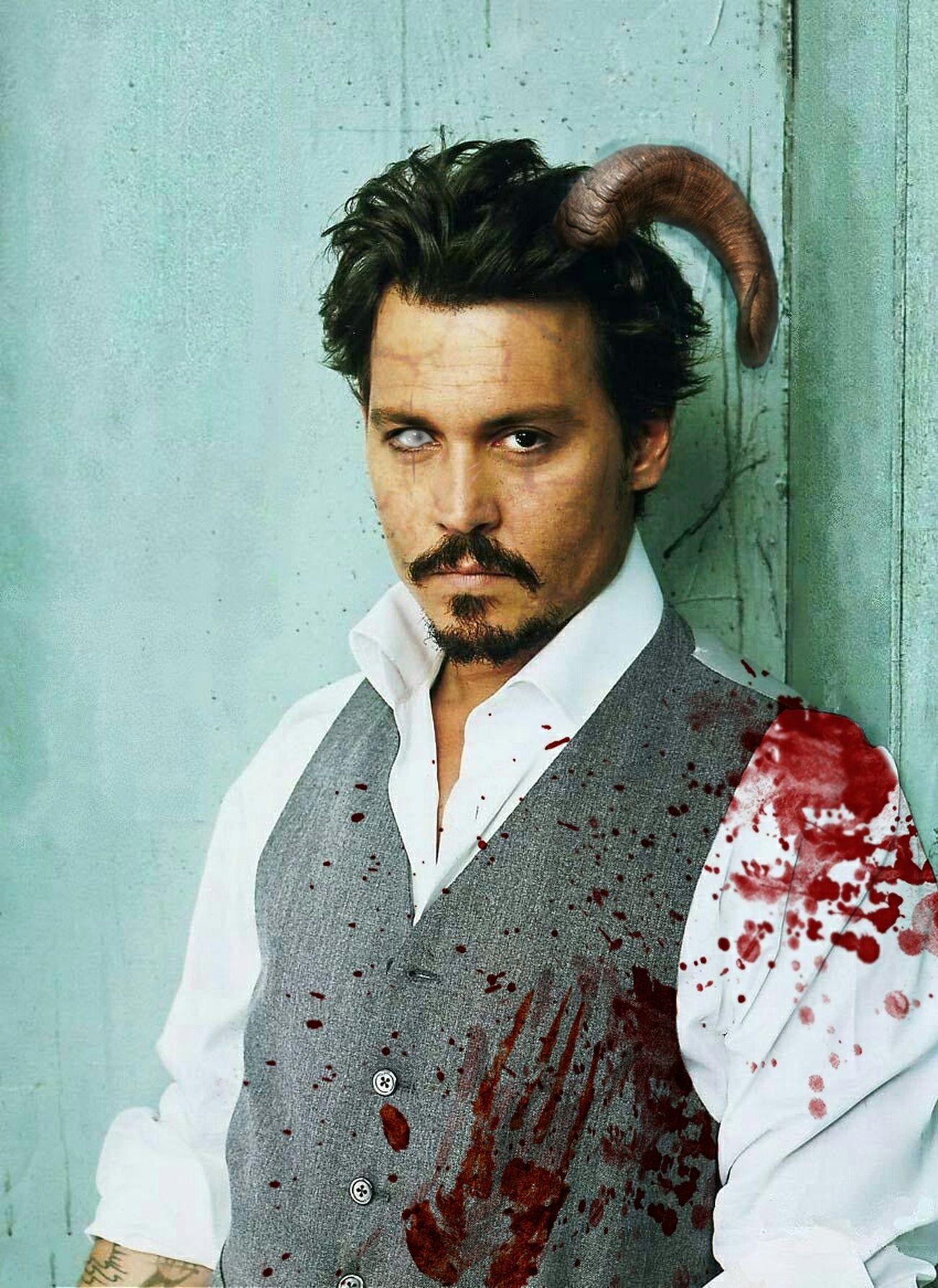 Photoshop of Johnny Depp. Johnnydepp Johnny Depp Depp Celebrity Photoshop Blood