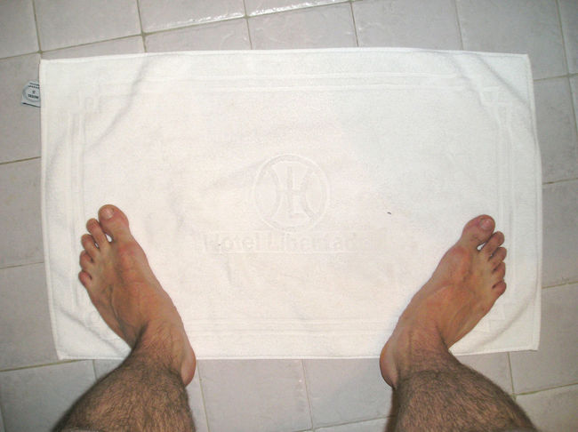 Badroom Feets Floor Foot Me My Feets Personal Perspective Shower Time Towel Two Is Better Than One