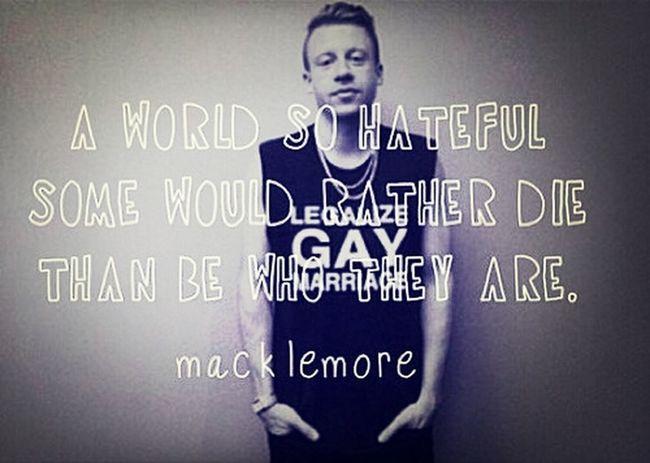 Loving Macklemore