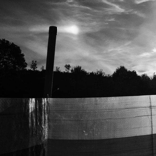 Milky sun shadow