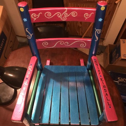 Child's rocking chair No People Indoors  Children's Chair Rocking Chair Rocking Chairs Rocking Chair On Back