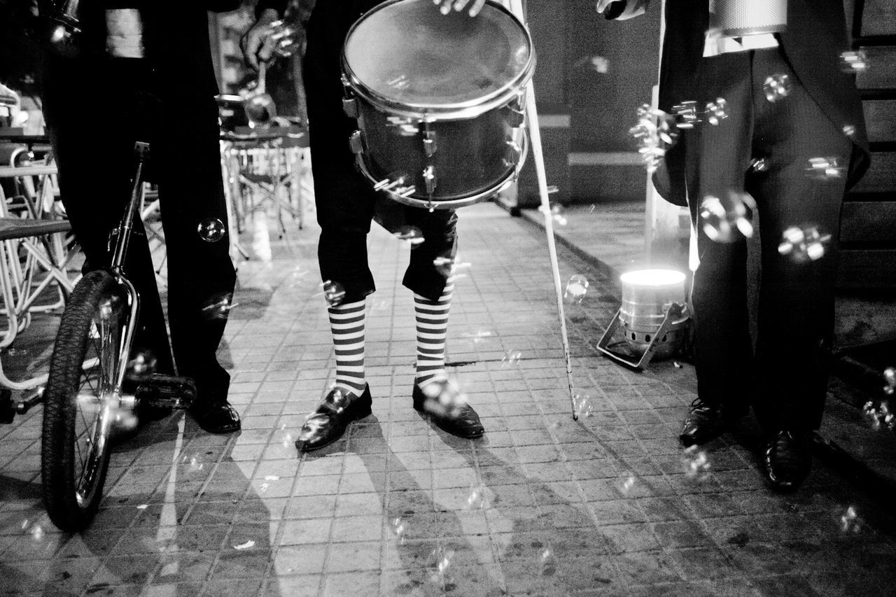 Bubbles Circus Clown Socks Funny Party Time Clowns Monocycle  Street Photography
