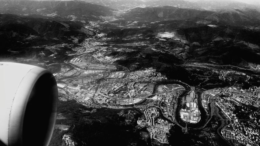 Flying from Menorca to Bilbao, Aerial views. 2015, July 3rd. Menorca Bilbao Blackandwhite Aerial Aerial View Aerial Photography Monochrome Flying Landscape