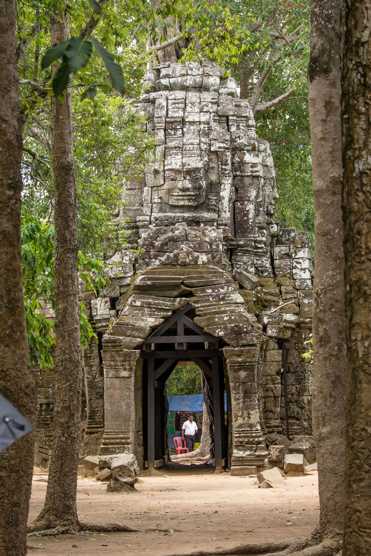 Ancient Ancient Civilization Architecture Building Exterior Built Structure Day History Nature No People Old Ruin Outdoors Place Of Worship Religion Spirituality Stone Material Tourism Travel Travel Destinations Tree Angkor Thom Cambodia