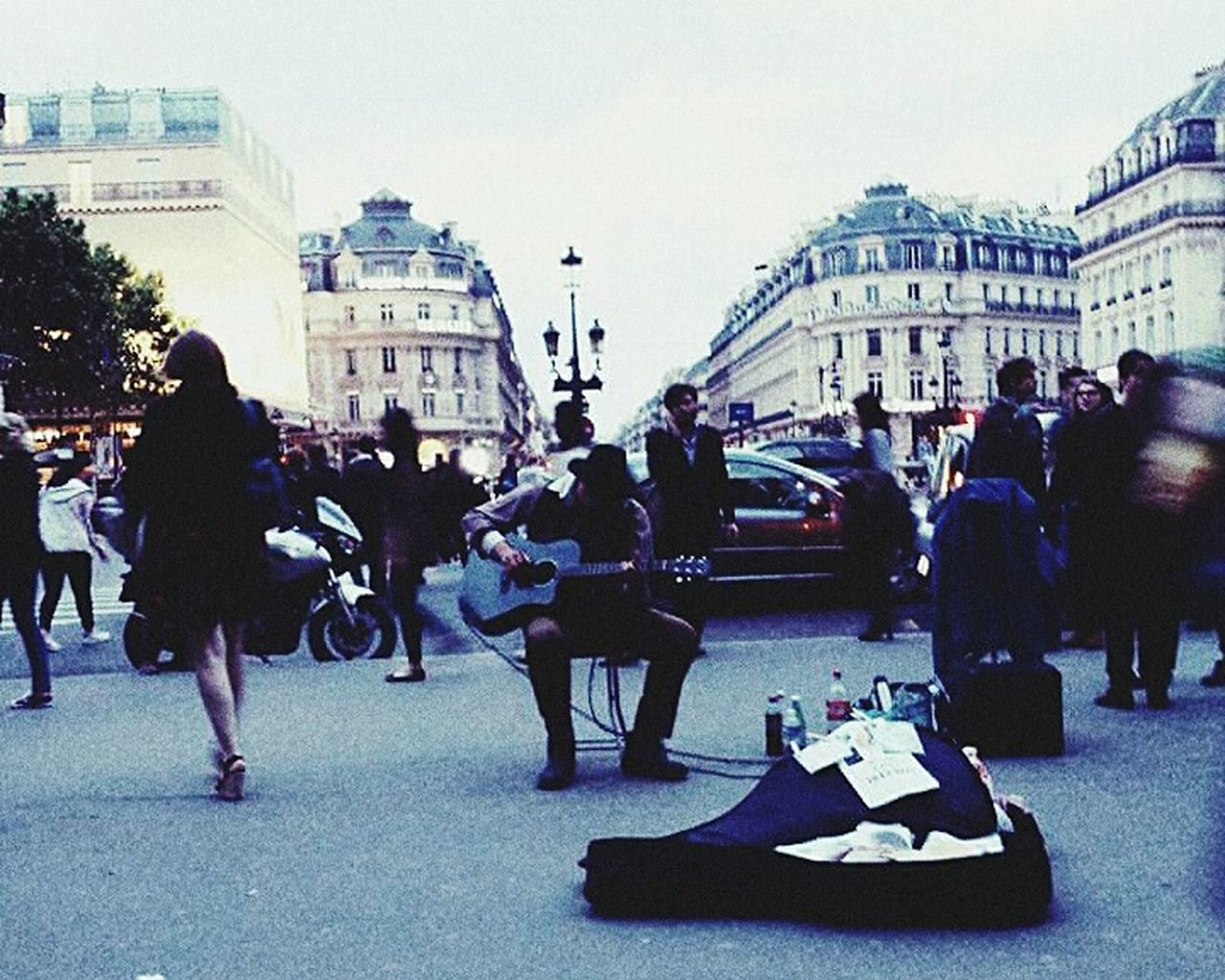 In front of the Paris Opera House, featuring a Guitarist. Musician Music Opera House France Night EyeEm Selects