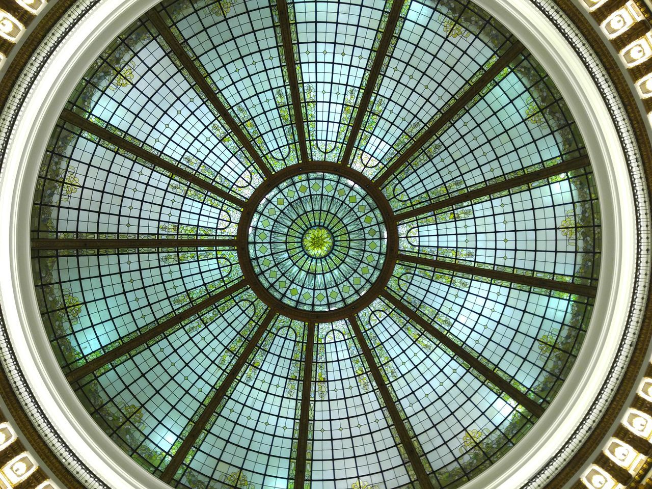 Directly Below Shot Of Dome Ceiling