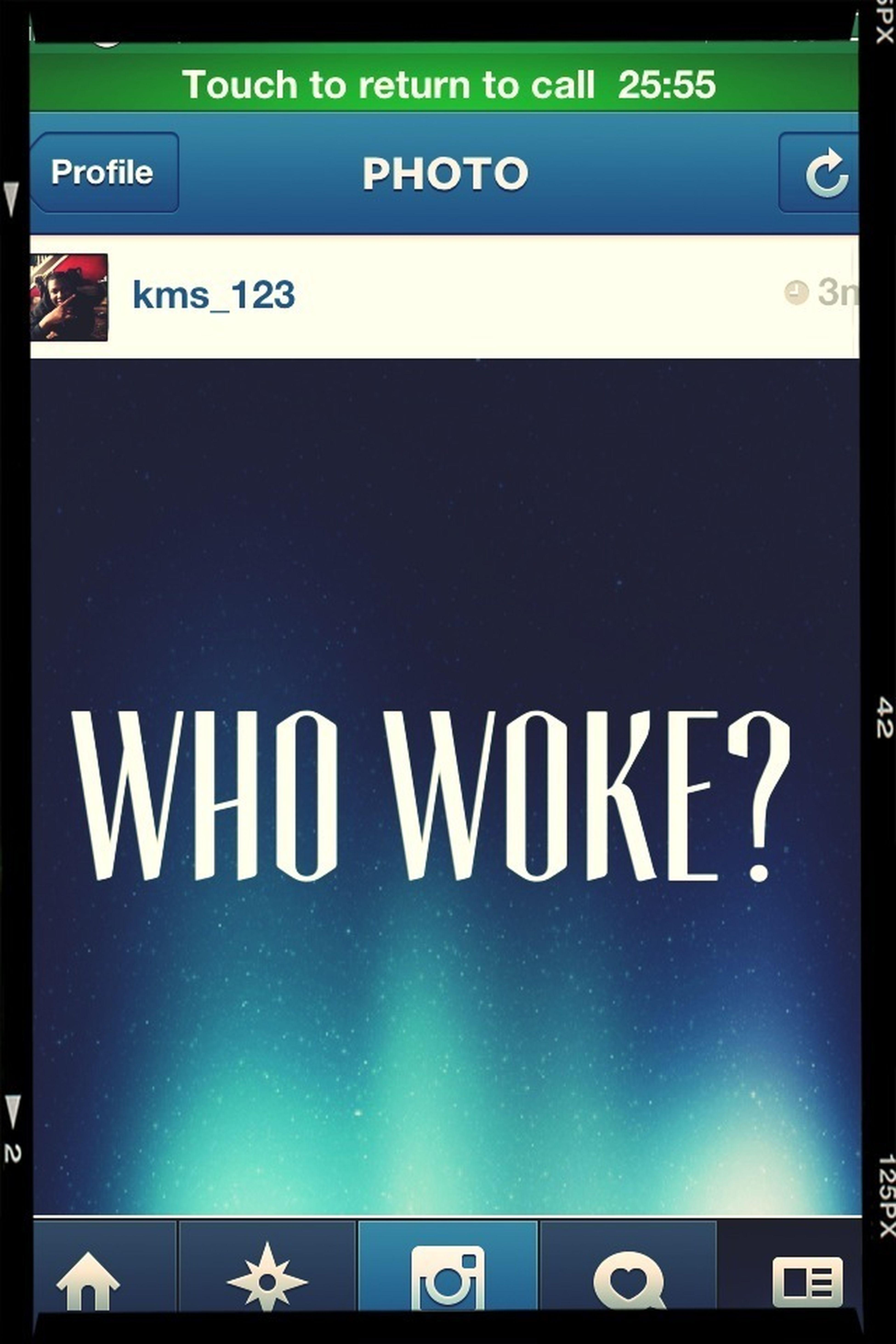 Who Woke?