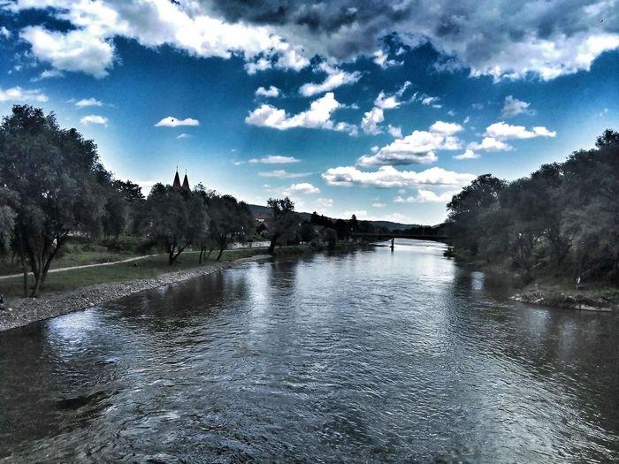 River Bosnia River Žepče Blue Sky Bosnia And Herzegovina