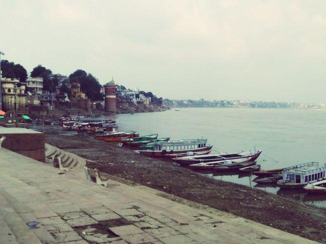 Ganga Ghat Kashi Varanasi, India Ganges, Indian Lifestyle And Culture, Bathing In The Ganges,
