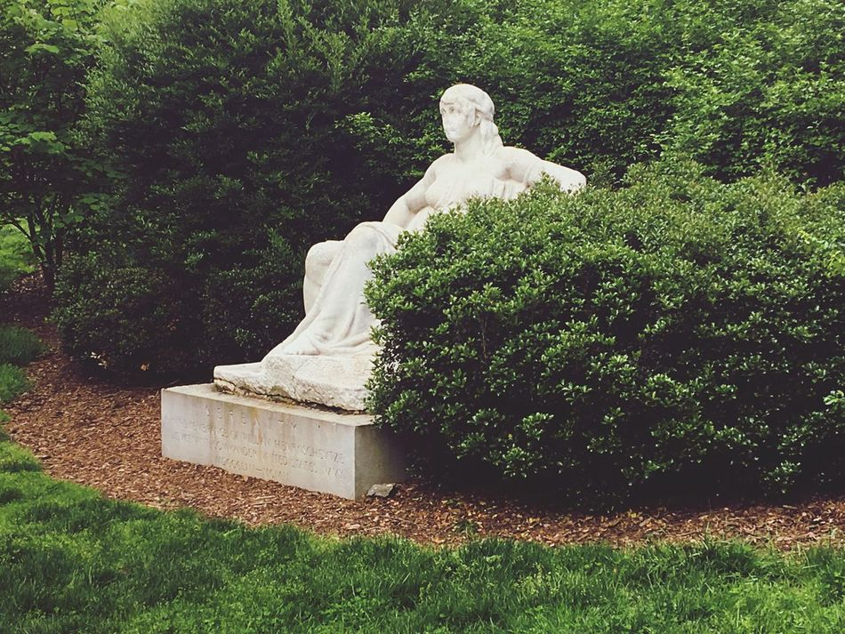 Statue Meridian Park Park NW DC Uptown Bush Throne Seated Marbel 14th Street DC