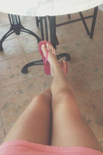 Legs Tanned Chilling Crete