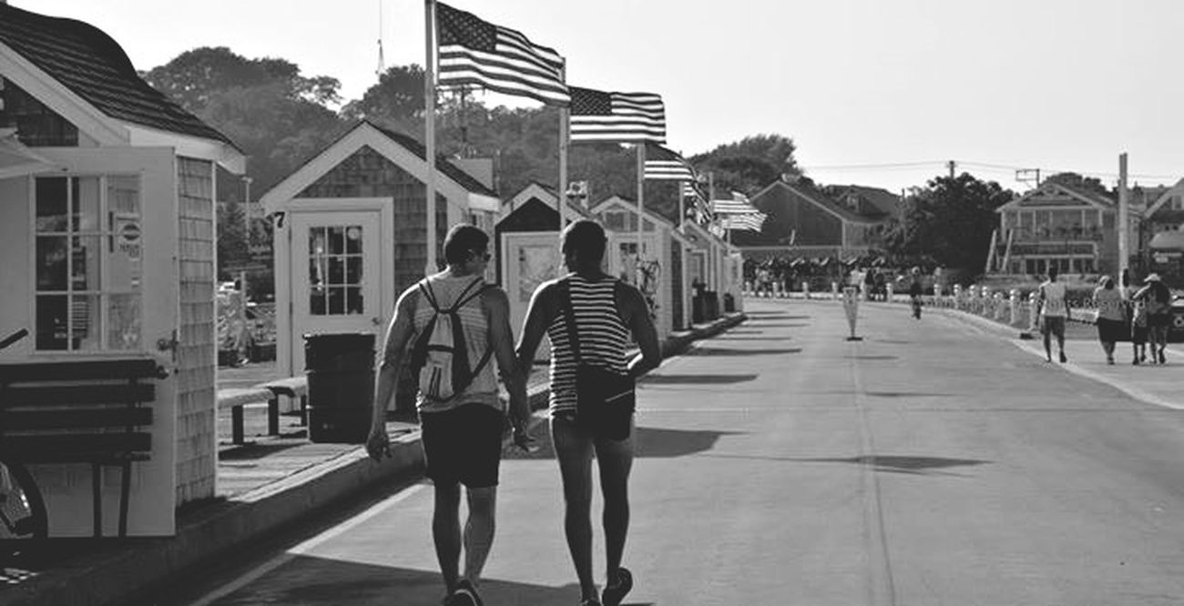 "©Ann Norsworthy Rigley ""Just Marriage"" All rights reserved Couples Marriage Equality Provincetown  IoLIGHTstudios  Monochrome Black & White Holding Hands"