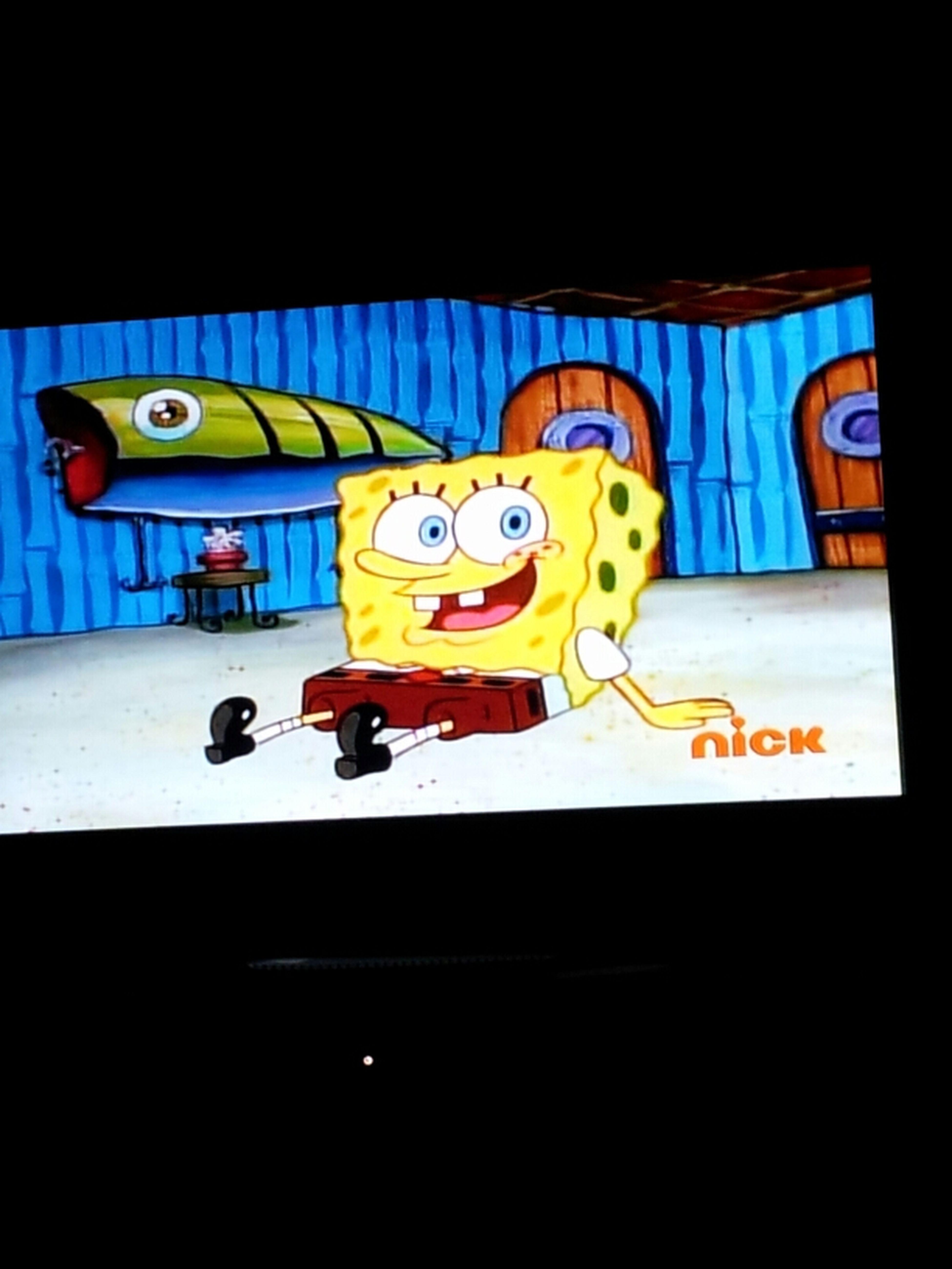 No Filter. Spongebob Chillen
