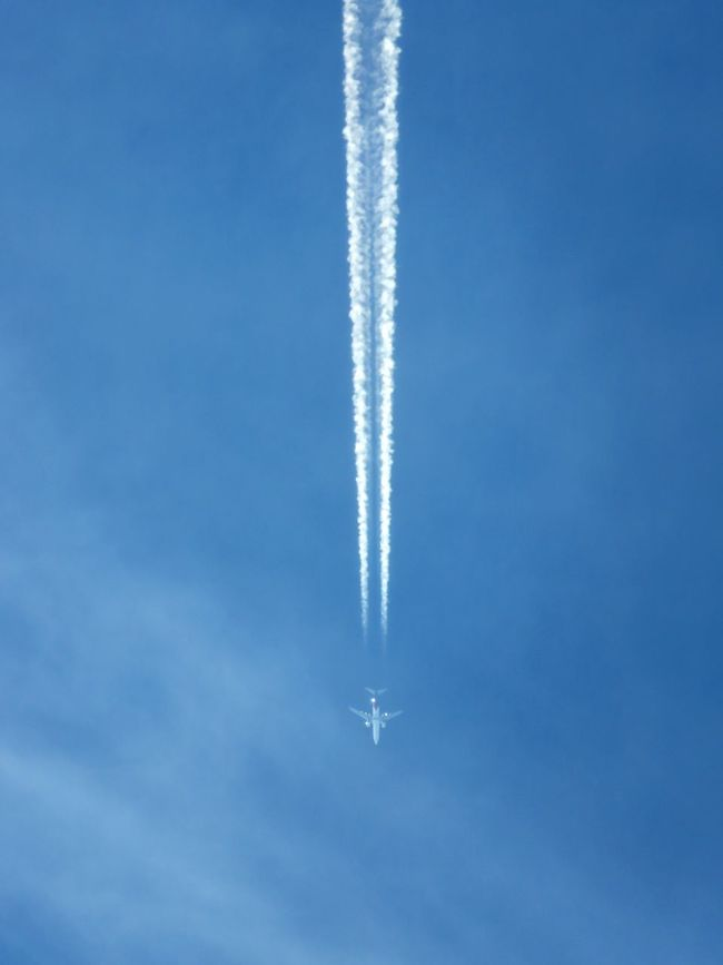 Airplane High Attitude  Contrail Superzoom Canonlens Sky Blue Bluesky Fly Away Wings Miles Away