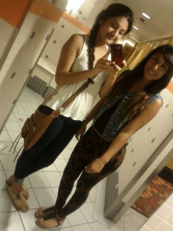 My sister and me c;