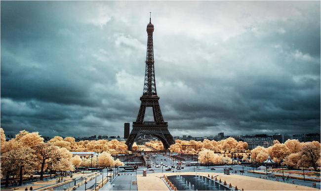 Canon400d Eiffel Tower Famous Place Fun Infrared Infrared Photography Landscape Photoshop Travel Destinations Travelling