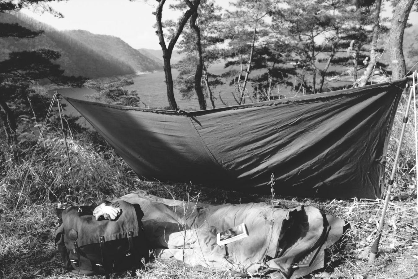 Taking Photos Enjoying Life Duluthpack Monochrome Black & White Canoeist Bedroll