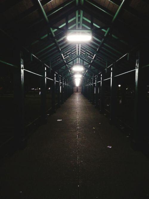 Alone Straight Forward Dark Way Go One