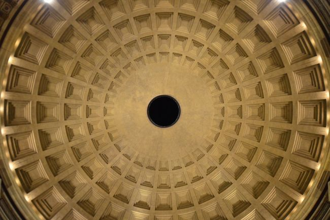 Ceiling of the Pantheon, Rome Rome Italy Monuments Ancient Ancient Architecture Circle Pattern Ceiling Dome Roman Historical Building Historic History Temple Pantheon Classical Travel Travel Photography