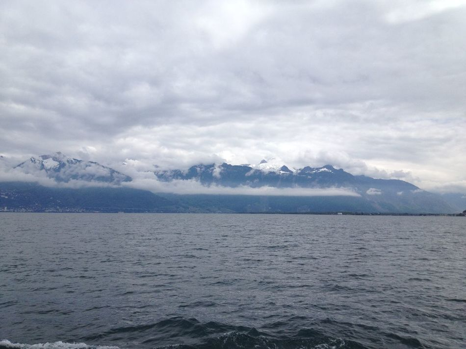 Clouds And Sky Mountains Water Going Sailing